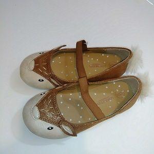 OshKosh Toddler Girls Deer Ballet Flats Brown 9
